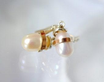 Drop earrings 925 sterling silver cubic zirconia beads. Red Gold 375 Drop pearl earrings cubic zirconia sterling silver rose gold