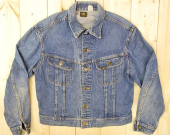 Vintage 1960's/70's LEE Denim Jean Jacket / SANFORIZED / Union Made in the USA / Retro Collectable Rare