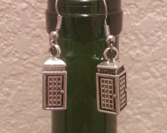 Harry Potter Phone Booth Earrings