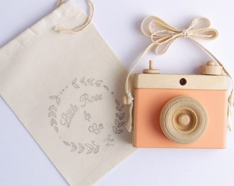Wooden Camera, Homemade, Wooden Toy Camera, Handcrafted, Imagination play, Nursery decor
