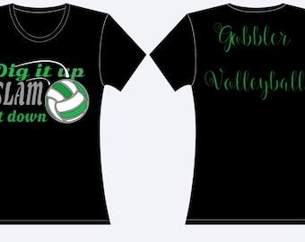 Dig it up Volleyball Spirit shirt