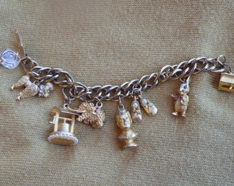 Kennedy JFK era charm bracelet