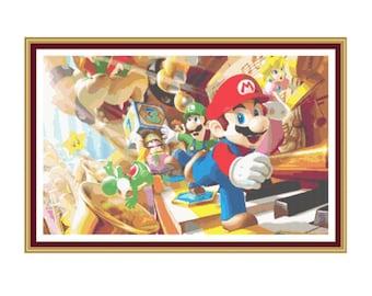 SALE half price cross stitch pattern Super Mario,Instant download PDF Pattern