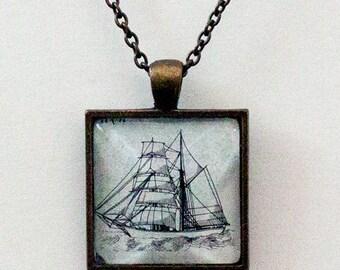 Sailing Ship Pendant Handmade