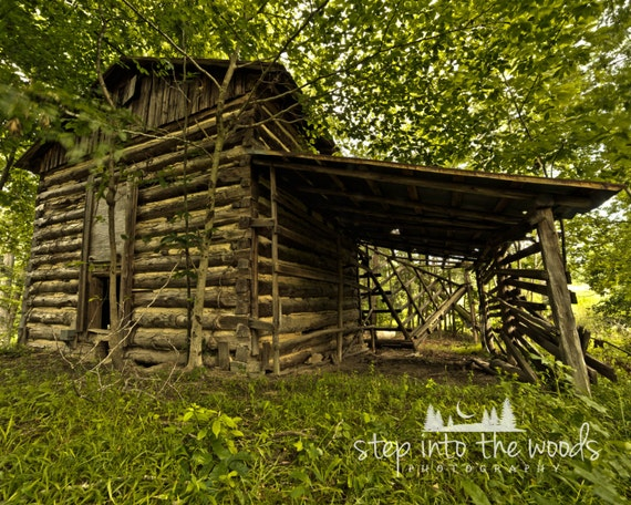 Tobacco barn nature photography log cabin log cabin decor for Cabin in the woods wall mural