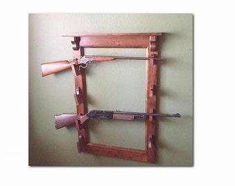 Gun Rack , Wall Mounted Gun Rack , Wall hung gun rack