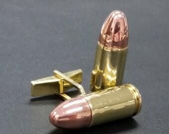 Real Bullet  9MM Cufflinks - Real Bullets-k55
