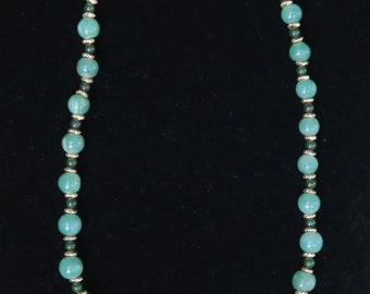 Jade Necklace with Gold Filled Chain