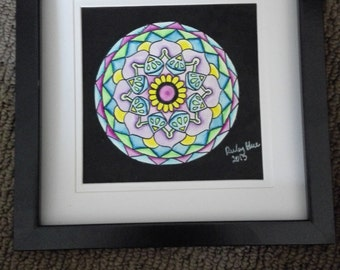 Original Watercolour Mandala Painting