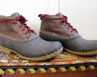 """VTG LL Bean Hunting Boots Men's Size 10, Men's, Size 10, Hunting Boot, Duck Boot, Brown, Women's 11, 6"""", Leather, LL Bean, Boot, 1990's,"""
