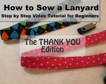 How to Sew a Lanyard - PDF Instructions