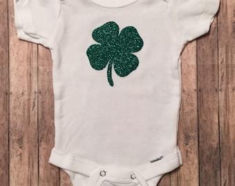 St. Patrick's Day Shamrock Onesie