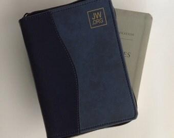 Dark Blue/California Blue Zipper Bible Cover