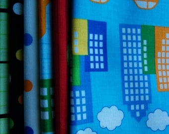 Robert Kaufman City Center City Centre fabric Robert Kaufman -Fat Quarter Bundle- 6 total