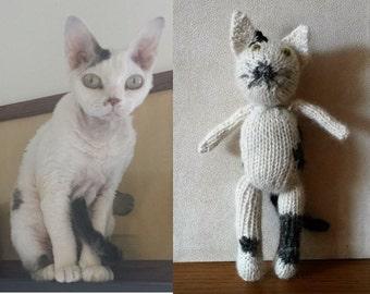Cat Custom Pet Portrait: let me knit your cat