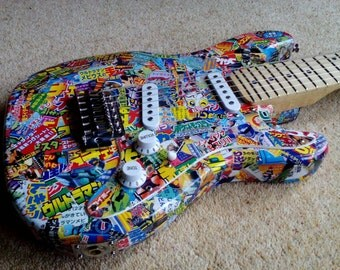 Kids Manga Style Decorative Electric Guitar