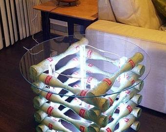 Coke bottle table