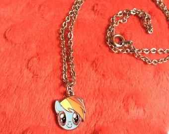 adorable My Little Pony rainbow dash necklace