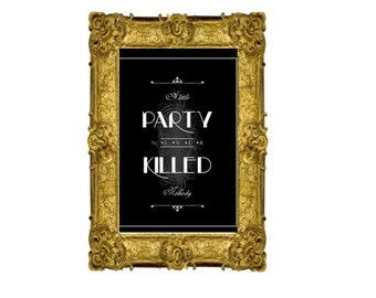 Gatsby party sign