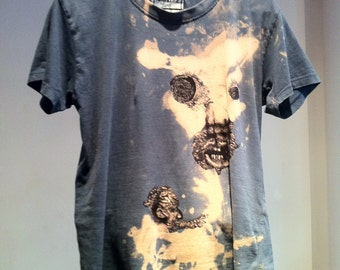 Hand drawn & bleached t-shirt size 14