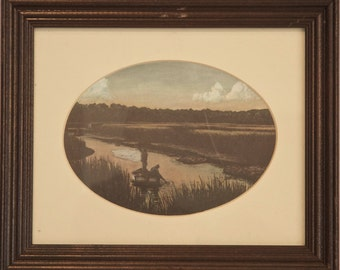W. Jackson Causey Print - Low Country Marsh Fishing