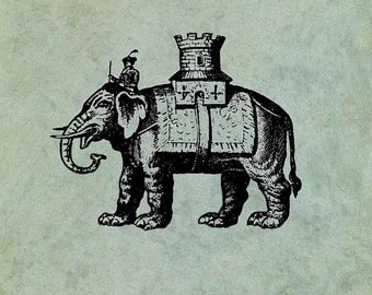 Royal Indian Elephant - Antique Style Clear Stamp