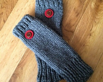 Wrist Warmers with button detail