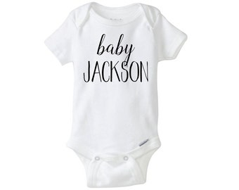 Personalized Last Name Onesie, Cute Onesie, Baby Bodysuit