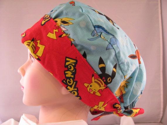 Women's Pixie Scrub Hat Pokemon Red