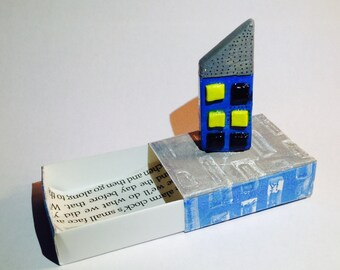 Little Clay House, Matchbox House, House Warming Gift, OOAK