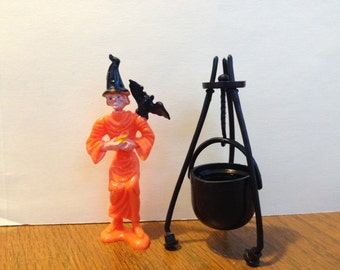 Vintage Halloween Witch Cake Topper