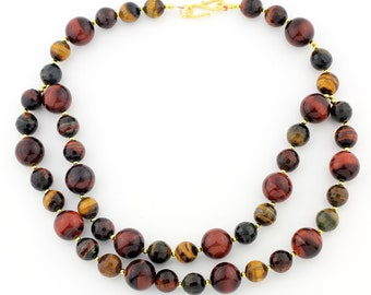 Double Strands of Tiger Eye necklace  KT3605