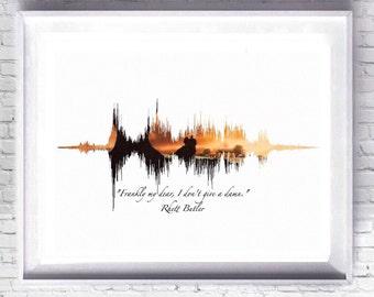 Gone With The Wind Art Digital Download Print, Vivian Leah