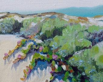 Pismo Beach, California, Sand Dunes Landscape, Original Oil Painting