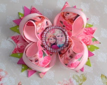 Bow frozen bow Elsa Anna rose bow beautiful hair bow for baby girl in gift for birthday with cartoon characters.