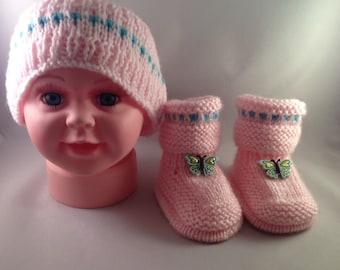 Baby Girl Headband and Booties