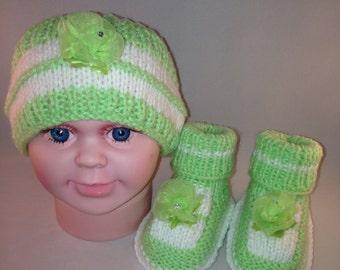 Green Headband and Booties