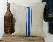 European Grain Sack Pillow Cover