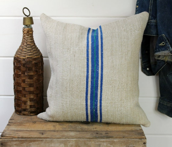 European Grain Sack Pillow Cover