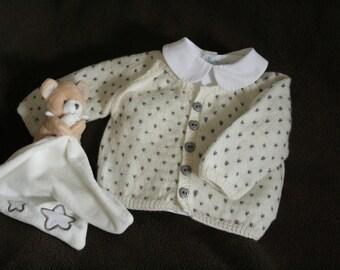 Jacquard baby 100% Merino Wool vest
