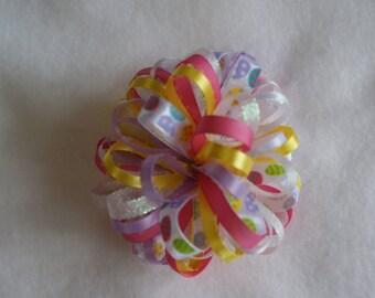 Easter Egg Loopy Hair Bow