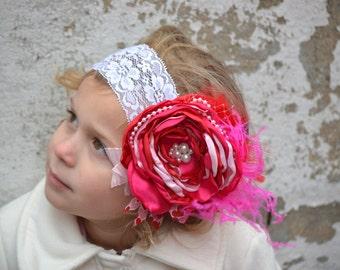 Valentine Headband, Baby Headband, Child Headband