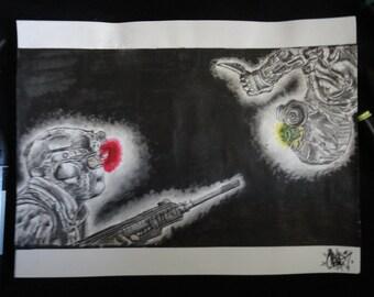 Illustration Original de Splinter cell Black list format A4