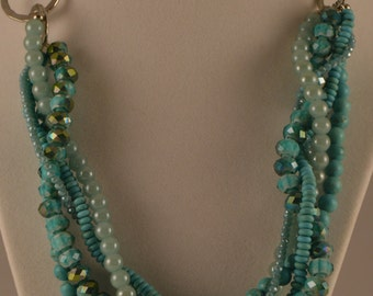 """20"""" Multistrand Turquoise colored beads"""