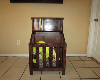 toy box, book shelf