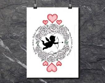 Cupid Love - Art Print of original artwork