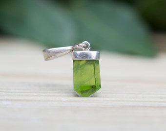Genuine Green Peridot (Olivine) Pendant with Sterling Silver