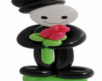 Romantic Man and Rose - Balloon - With Love - Birthday - Romance - Love - I love you - Girlfriend - Boyfriend - Valentine - Anniversary