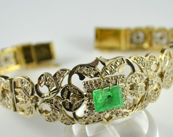 18K Lady's hand assembled custom made Bracelet