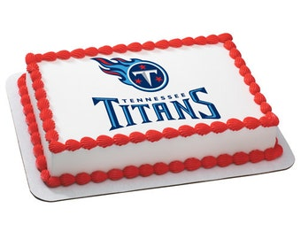 NFL Tennessee Titans Edible Cake Topper